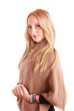 Cute young woman dressed in casual clothing Stock Photography