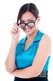 Cute Young Woman With Eyewear Stock Image