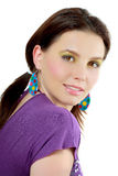 Cute young woman face Royalty Free Stock Images