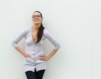 Cute young woman with glasses Stock Images