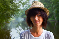 Cute young woman hipster Royalty Free Stock Image