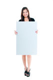 Cute Young Woman Holding Blank Board Royalty Free Stock Photo