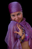 Cute young woman muslim - belly dancer Stock Image
