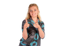 Cute young woman portrait Royalty Free Stock Photography