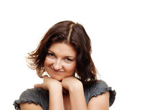 Cute young woman portrait Royalty Free Stock Images