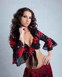 Cute young woman portrait  in gypsy costume Royalty Free Stock Photography