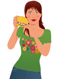 Fast food lover Stock Photography