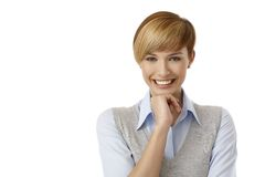 Cute young woman thinking Royalty Free Stock Photo