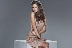Cute young woman wearing classy dress. Cute young woman wearing classy clothes stock photography