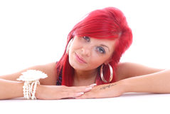 Cute Young Woman With Red Hair Stock Photography