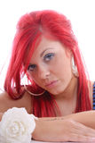 Cute Young Woman With Red Hair Stock Image