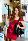 Cute young women shopping Royalty Free Stock Images
