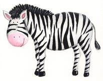 Cute Zebra. Acrylic illustration of cute zebra Royalty Free Stock Photos
