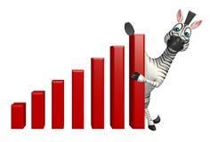 Cute Zebra cartoon character Royalty Free Stock Photo