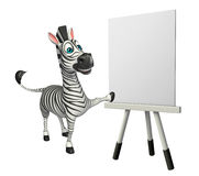 Cute Zebra cartoon character with easel board. 3d rendered illustration of Zebra cartoon character with easel board Royalty Free Stock Photography