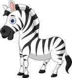 Cute zebra cartoon stock illustration