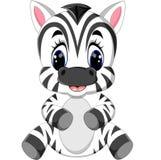 Cute zebra cartoon Stock Images