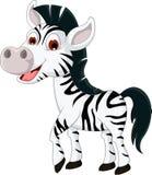 Cute zebra cartoon smiling Stock Photography