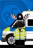 Cute Zebra Policeman Stock Photo