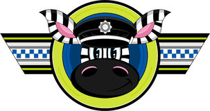 Cute Zebra Policeman Stock Images