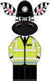 Cute Zebra Policeman Stock Photos