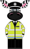 Cute Zebra Policeman Stock Photography