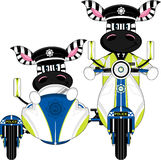 Cute Zebra Policeman Stock Image