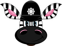 Cute Zebra Policeman Royalty Free Stock Photos