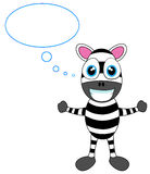 Cute Zebra in thought Stock Photography