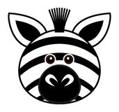 Cute Zebra Vector. Cute animal faces in  (One of 25 of them Stock Photography