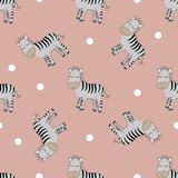 Cute Zebras seamless patern. stock illustration