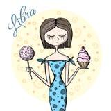 Cute zodiac sign Libra Royalty Free Stock Photo