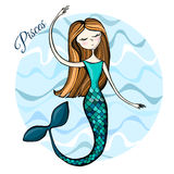 Cute zodiac sign Pisces Royalty Free Stock Photo