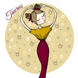 Cute zodiac sign Taurus Royalty Free Stock Images