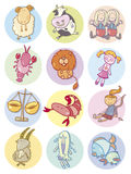 Cute zodiac signs Royalty Free Stock Photo