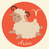 Cute zodiac signs icon. Aries. Cute zodiac signs icon. Hand-drawn style. Aries vector illustration