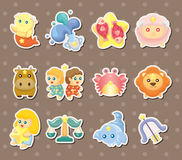 Cute zodiac stickers Stock Image