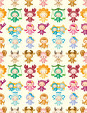 Cute zodiac symbols seamless pattern Royalty Free Stock Photography