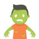 Cute zombie portrait. Halloween. stock illustration