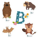 Cute zoo alphabet Royalty Free Stock Photos