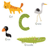 Cute zoo alphabet Stock Images