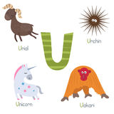 Cute zoo alphabet Stock Image