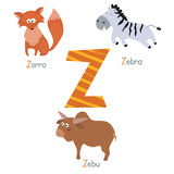 Cute zoo alphabet Stock Photos