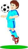 Cutecute boy soccer player Royalty Free Stock Photo