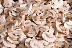cuted新鲜的蘑菇 库存图片