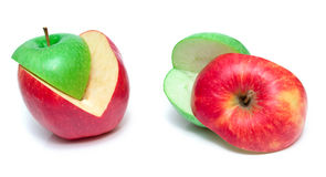 Cuted apples Royalty Free Stock Photo