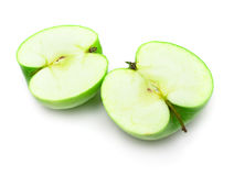 Cuted green apple Royalty Free Stock Photo