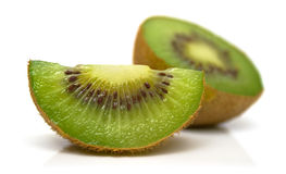 Cuted kiwi on white 2 Stock Photos