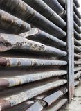 Cuted UO-Stücke der Decke eines alten Unterwasserbunkers in St. Stockfotografie