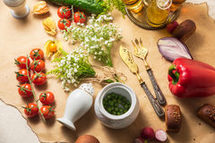 Cutelaria bonita o restaurante Imagens de Stock Royalty Free
